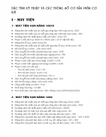 Đặc tính kỹ thuật của một số máy công cụ - P2