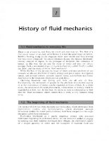 Introduction to fluid mechanics - P1