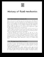 Introduction to fluid mechanics - P1