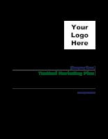 Tactical marketing plan- kế hoạch chiến thuật chào