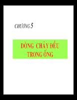 Bài giảng cơ lưu chất - Chương 5