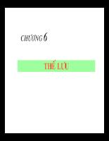 Bài giảng cơ lưu chất - Chương 6