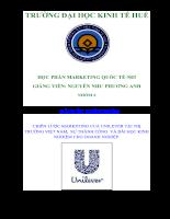 Chiến lược marketing của unilever tại thị trường việt nam, sự thành công và bài học kinh nghiệm cho doanh nghiệp