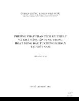 Phương pháp phân tích kỹ thuật và khả năng áp dụng trong hoạt động đầu tư chứng khoán tại Việt Nam