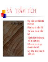 Bài giảng địa chất công trình - đá trầm tích