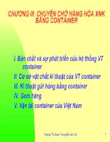 Slide bài giảng Vận tải và Bảo hiểm của cô Hoàng Thị Đoan Trang-FTU - Chương container