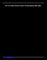 Các dạng bài toán cơ bản về dao động điều hòa
