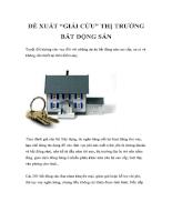 Đề xuất giải cứu thị trường bất động sản