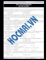 Tài liệu ôn tập 6: Bài toán điện phân