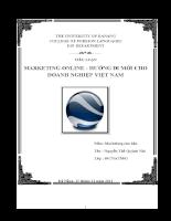 Marketing online - hướng đi mới cho doanh nghiệp việt nam