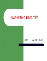 Slide bài giảng Marketing trực tiếp