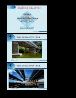 Giáo trình kết cấu cầu bê tông cốt thép - Chương 6