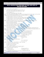 Bài 21: Phương pháp phân biệt các hợp chất hữu cơ