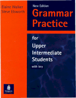 Longman Press Grammar Practice For Upper Intermediate Students