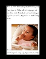 Chế độ đủ dinh dưỡng cho bé 7 tháng tuổi