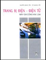 Giáo trình -Trang bị điện-điện tử -Máy gia công kim loại