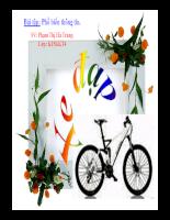 Phổ biến thông tin- lợi ích xe đạp