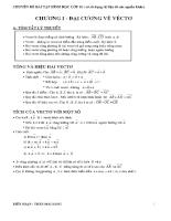 Chuyên đề bài tập hình học lớp 10