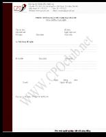 Mẫu Phiếu thông báo đề nghị Ban hành/Sửa đổi tài liệu