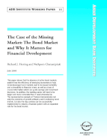 The Case of the Missing Market: The Bond Market and Why It Matters for Financial Development