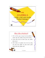 Tài liệu marketing căn bản - chương 6