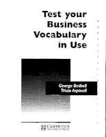 Tests business vocabulary