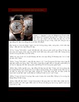 Lịch sử và giá trị thương hiệu đồng hồ Timex