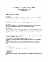 đề thi tín dụng bidv 07/2010