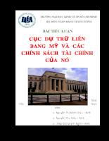 Cục dự trữ liên bang mỹ và các chính sách tài chính của nó.doc