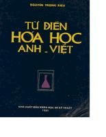 Từ điển hóa học Anh - Việt