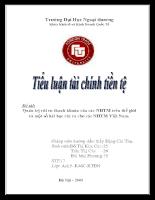 Quản trị rủi ro thanh khoản của các ngân hàng thương mại trên thế giới và một số bài học rút ra cho các ngân hàng thương mại Việt Nam.doc