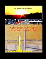 Năng lượng mặt trời lý thuyết và ứng dụng