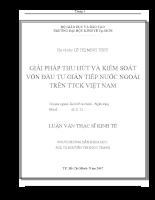 Giải pháp thu hút và kiểm soát vốn đầu tư gián tiếp nước ngoài trên thị trường chứng khoán Việt Nam