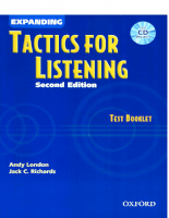 Expanding Tactics for Listening - Test Booklet