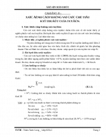 Xác định cấp hạng và các chỉ tiêu kỹ thuật của tuyến
