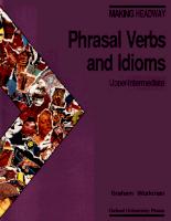 Idioms phrasal verbs and idioms