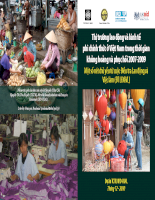 Thị trường lao động và kinh tế phi chính thức ở Việt Nam trong thời gian khủng hoảng và phục hồi 2007-2009