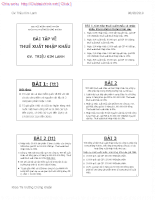 Bài tập thuế - không lời giải