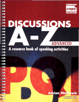 Cambridge University Press Discussions A-Z Advanced