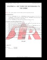 bài tập kèm lời giải kế toán tài chính chương 4