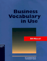 Cambrige University Press Business Vocabulary in Use (Cambridge Professional English)