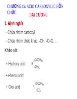 Acid carboxylic hỗn chức