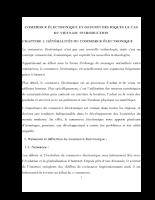 Luận văn tiếng pháp Commerce électronique et gestion des riques le cas du vietnam introduction.doc