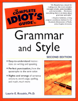 The Complete Idiot's Guide to Grammar & Style 2nd Ed (2003)