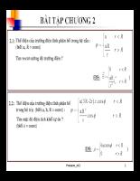 Bài tập Trường điện từ - chương 2