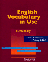 Cambridge - English Vocabulary In Use - Elementary