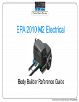 Hướng dẫn hệ thống điện đầu kéo Freightliner M2 EPA 2010 Electrical Guide