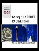 Tin học trong quản lý xây dựng