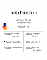 Bài tập Trường điện từ - chương 1