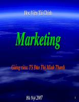 Bài giảng Marketing căn bản Free
